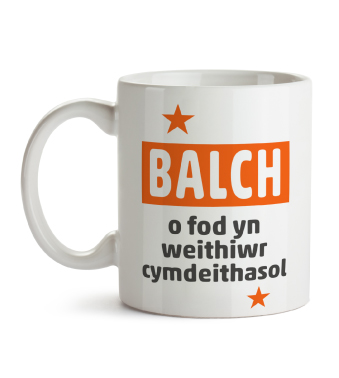 Mug - Proud to be a social worker (Welsh)