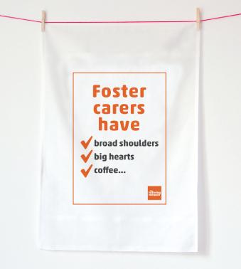 Tea Towel - foster carers have...coffee