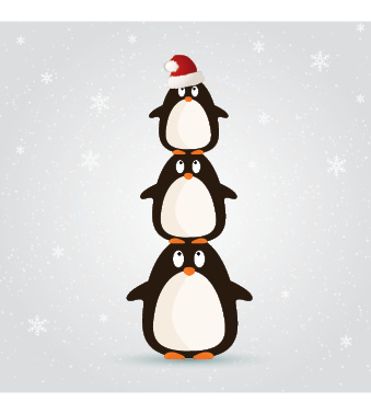 Penguins (Pack of 10 Christmas Cards)